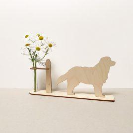 houten bernersennenhond sennen hond honden cadeau kado kadootje reageerbuis reageerbuisje bloem bloemetje hout houten berken laserkracht