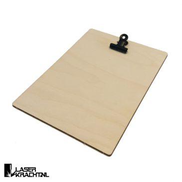Klembord A6 kaartje formaat foto 10 x 15 cm houten klembordje fotohouder kaarthouder kaartklem klem fotolijst cadeau kado cadeautje kadootje